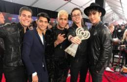 "CNCO ganó un premio al Mejor Remix por ""Reggaetón Lento"" ft. Little Mix"